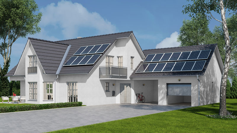 Einfamilienhaus mit PV Anlage